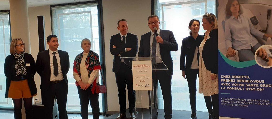 inauguration officielle cabine télémedecine blois