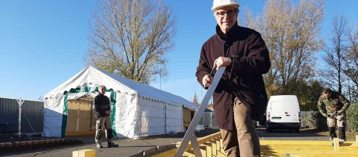 Eric Incarbona sur le chantier du prototype Cubéco à Selles-sur-Cher